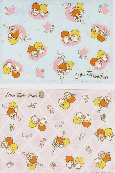 SANRIO LITTLE TWIN STARS LOOSE LETTER SET NEW STYLE PATERN