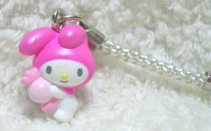 CUTE MY MELODY SANRIO 2004 PEARLY PHONE STRAP
