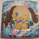 KAWAII JAPAN SANRIO SEGA JEWEL PET PRISM SILVER STICKER SEAL CARD #33 BROWN PUPPY DOG