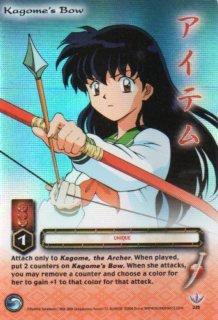 Kagome's bow  CARD #235  INUYASHA TCG TETSUSAIGA  RARE PRISM FOIL CARD GAME