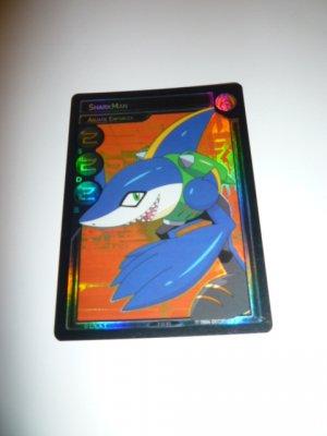 MEGAMAN GAME CARD MEGA MAN SPECIAL PROMO PRISM FOIL  3ST81 SHARK MAN AQUATIC ENFORCER