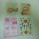 SAILOR MOON JAPAN KIRA LOCKET WAND SEAL MINI STICKER ENVELOPE PAPER CARD