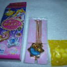 SAILOR MOON CRYSTAL JAPAN SEBON PRISM PREMIUM PHASE POCKET WATCH GOLD ORANGE VENUS NECKLACE CANDY