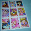 Sailor moon Vintage sticker sheet collectible sailormoon venus chibimoon mars