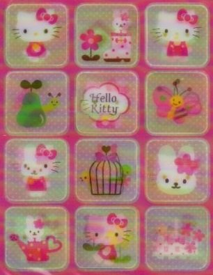 SANRIO HELLO KITTY NEW 3D STICKER 12 PCS.