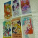 SM CLEAR LOT 6 SMALL CARD MANGA BOOKMARK
