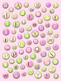 Rounded Alphabet - Cotton Candy
