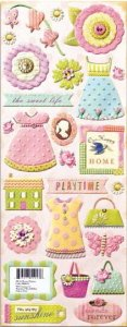 Embossed Stickers - Little Doll