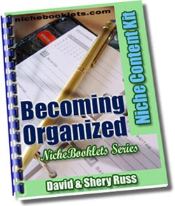 Becoming Organized Niche eBooklet - Resell eBook!