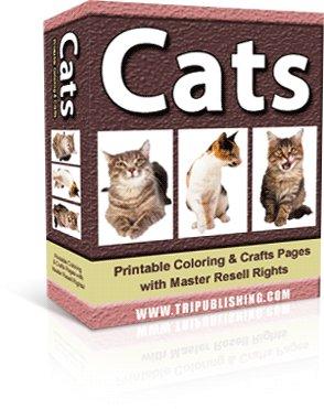 Cats Coloring eBook - Resell eBook!