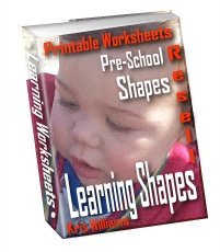 Learning Shapes Printable Worksheets Pre-school fun by Kris Williams - Resell eBook