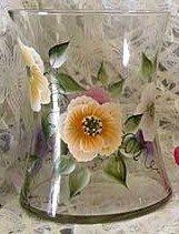Wild Rose Hourglass Ice Bucket/Vase