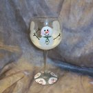 Hand Painted Snowman Wine Glasses, set of 4