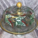 Pine & Berries Punch bowl/Cake cover