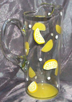 Hand Painted Lemon Pitcher