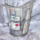 Hand Painted Gone Fishin' Beer Pitcher