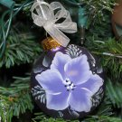 Hand painted Poinsettia Christmas Ornament