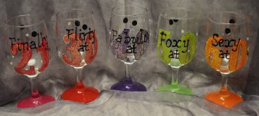 Hand Painted Birthday by the Number Glass