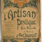 L'Artisan Pratique Revue Mensuelle de Modeles D'Art Decoratif, May 1920 No.131 Pattern Booklet