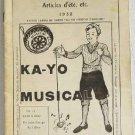 Catalogue Jouets, Jeux, Bimbeloterie 1932 Granger Freres French Toys Games Kilgore Cap Guns