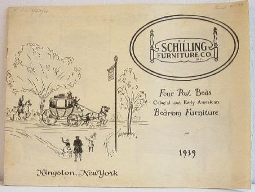 Four Post Beds Colonial and Early American Bedroom Furniture 1939 Schilling Furniture Co Catalog