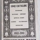 1942 Catalog Diamonds Watches Jewelry Optical Goods Silverware Metropolitan Watch & Jewelry Co