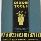 Art Metal Crafts Tools & Supplies Catalog c.1939 William Dixon Inc Tool Leather Wood Carving