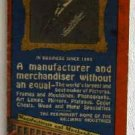 Frank M Williams Co Wholesale Catalog and Price List No.33 Picture Frames Phonographs Lamps