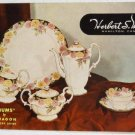 Herbert S Mills 1953 Catalog Fine China Dinnerware Royal Doulton Derby Coalport Paragon Wedgwood