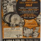 Luria's 53rd Anniversary Sale 1951 Catalog Silver Silverplate Dinnerware Dresser Sets Kitchenware
