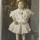 Antique Photograph Young Girl in Fancy Dress with Jewelry Hand Tinted 6x9