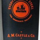 Everything in Steel AM Castle & Co Original Catalog circa 1950s Industrial Metals Bars Plates Sheets