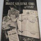Biggest Gas Range Story of 1940 Montgomery Ward Catalog Stoves Ranges Crusader Charm Coronet