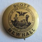 Scott Newhall Political Pin Back Button Mayoral Race 1971 San Francisco Editor of the Chronicle