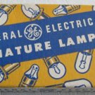Old Unused General Electric Miniature Lamps No.47 for Radios 7 in Box Vintage Radio Light Bulbs