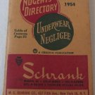 Nugent's Directory of Underwear & Negligees Summer 1954 Lists Companies Making Lingerie Pajamas