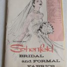 House of Schenfeld Bridal and Formal Fabrics Catalog circa 1960 Fabric Swatches Lace Brocade