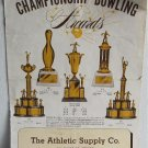 Championship Bowling Awards Catalog 1950's Trophies Medals Ashtrays Pins Pendants Tie Clasps