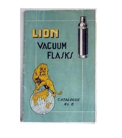 Lion Vacuum Flasks Catalogue No 6 undated - circa 1920-30? Catalog Thermos Thermoses Japan