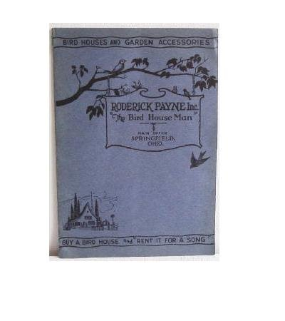 Bird Houses and Garden Accessories Roderick Payne Inc circa 1930 Catalog Pottery