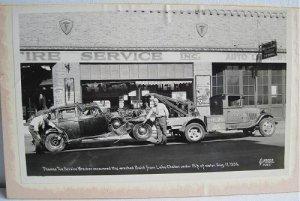 1936 Vintage Photo Thomas Tire Service Wrecker Recovers Buick Lake Chelan Tow Truck Simmer Studio
