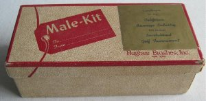 Vintage Golf Promo California Beverage Industry 8th Tournament Male Kit Hughes Brushes Comb File