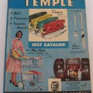 Temple 1957 Catalog General Merchandise Toys Jewelry Silver Kitchenware Lamps Furniture Tools