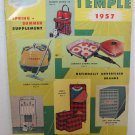 Temple 1957 Spring-Summer Catalog Supplement Plastic Kitchenware Watches Cameras Jewelry Luggage
