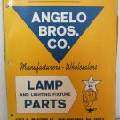 Angelo Bros Co Lamp and Lighting Fixture Parts Catalog Number 64 Lighting Fonts Shades Finials