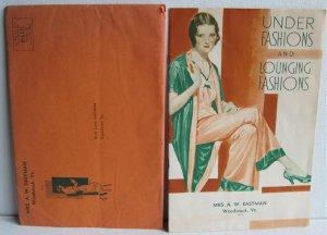 Under Fashions Lounging Fashions Catalog circa 1930 Munsing Wear Munsingwear Pajamas Slips Lingerie
