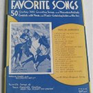 Jesse Rogers' Favorite Cowboy Songs 1938 Hill Country Mountain Ballads Western Song Book Music
