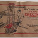 1938 How to Make 'Em The New Erector Sets Construction Toys Catalog AC Gilbert