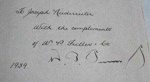 1939 Ninety Years Story of William Parmer Fuller Signed 1st Grabhorn Press Fuller Paint Co