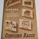 1947 Concord Radios and Electronic Equipment Catalog Supplement No. 447 Amplifiers Microphones Parts